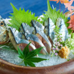 生秋刀魚刺身