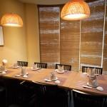 最大12名収容可能なテーブル席 ベビーチェアも有