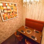 非日常な雰囲気に満ちた4名用の個室4部屋を完備。最大8名での宴席もOK。