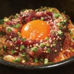 和牛肉飯(290B)石焼き鍋で焼かれた和牛とご飯はやみつきになること間違いなし