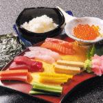 手巻き寿司コース 写真は2名様分