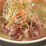 牛骨を2日かけて煮だすコムタンスープ(280B)は、濃厚なのにあと口さっぱり