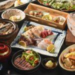 料理8品に生ビール、焼酎、日本酒、ウィスキー等が飲放付の「匠コース」(4名~、1人前2,000B)。要予約