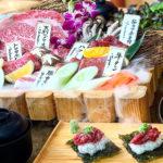 サシの具合も芸術的な美味の饗宴、焼肉セット「匠」(999B/1人)。肉のプロの本気を見よ!※写真は2-3人前です